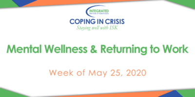 May 25 Coping in Crisis