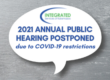 2021 annual public hearing postponed due to COVID-19 Restrictions